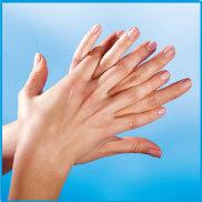 Händedesinfektion in 6 Schritten