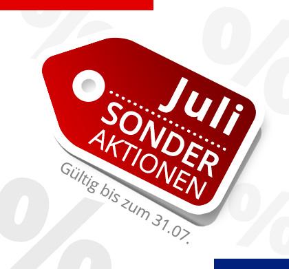 Sonder Aktionen bis Juli 2018