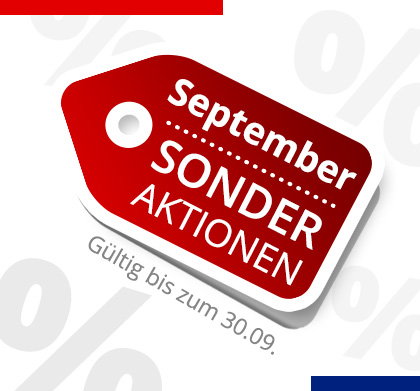 Sonder Aktionen September 2018