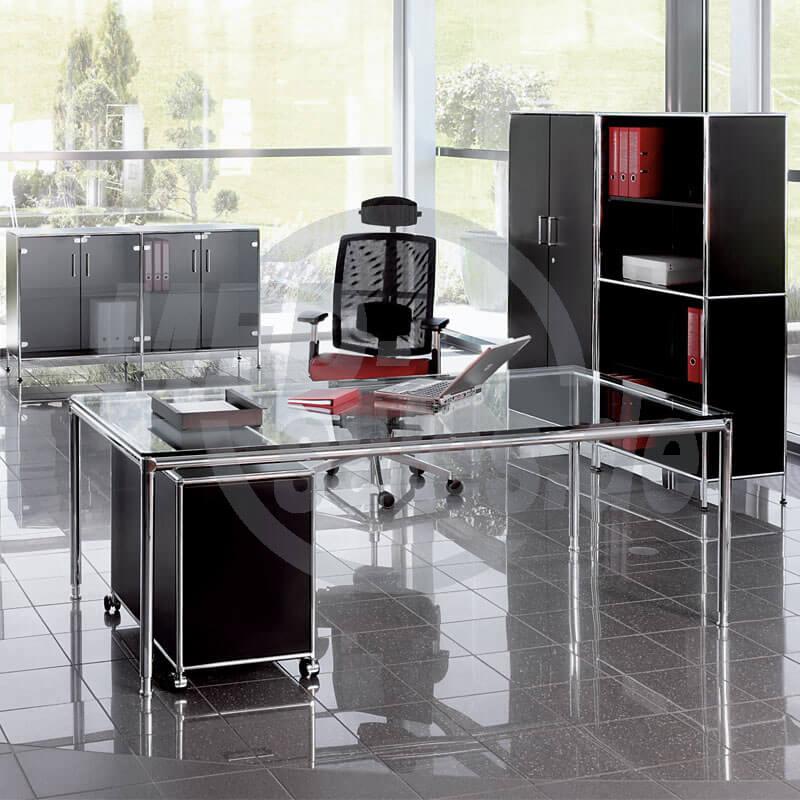 Modul Space Glas Schreibtisch Bosse Promedia Medizintechnik Gmbh