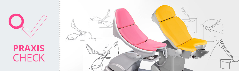 Praxis-Check Gynäkologie Stühle